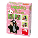 Dino Children Memory Mini Little Mole and friends pink, 24 pieces