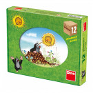 Dino Wooden Picture Blocks Mole and the four seasons, 12 cubes