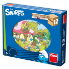 Dino Wooden Picture Blocks The Smurfs, 12 cubes