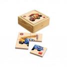 Dino Wooden Baby Puzzle Tatra, 6x4pieces