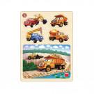 Dino Wooden Baby Puzzle Tatra, 13 pieces