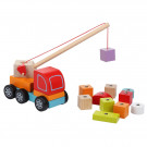 Cubika Wooden Truck crane with magnets