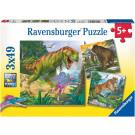 Ravensburger Puzzle Dinosaurs, 3x49pieces