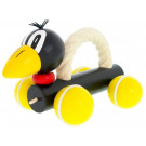 Greenkid Wooden Pushing Toy with Rope Raven Barry