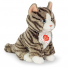 Teddy Hermann Soft toy grey cat sitting, 21cm