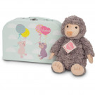 Teddy Hermann Soft toy mole Sascha in suitcase, 27cm