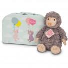 Teddy Hermann Soft toy mole Sascha in suitcase, 27cm