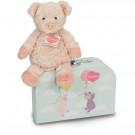 Teddy Hermann Soft toy piggy Sunny in suitcase, 27cm