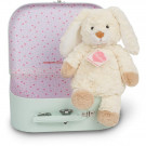 Teddy Hermann Soft toy bunny Carrot in suitcase, 27cm