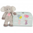 Teddy Hermann Soft toy elephant Smartie in suitcase, 27cm