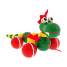 Greenkid Wooden Pull Along Toy Dragon Oscar