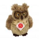 Teddy Hermann Soft toy Owl, 17cm brown