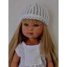 Vestida de Azul Carlota Doll, 28cm in white