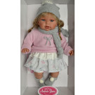 Antonio Juan Any Bufanda Gris Soft Body Doll, 37cm blond