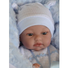 Antonio Juan Tonet Arrullo in Blue Blanket Soft Baby Doll, 34cm