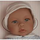 Asivil Baby Doll Soft Body Leo, 46cm summer dress in blue