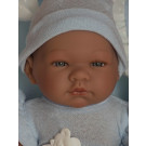 Asivil Baby Doll Pablo, 43cm in sleeping bag
