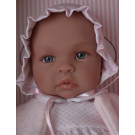 Asivil Baby Doll Soft Body Lea, 46cm white-rosa dress
