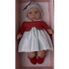 Asivil Baby Doll Soft Body Lea, 46cm in red