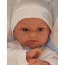 Antonio Juan Tonet Cojin Azul Soft Baby Doll, 34cm