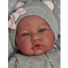 Antonio Juan Soft touch Baby Doll Nacida Gris, 40cm with pillow grey