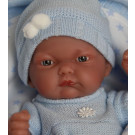 Antonio Juan Pitu Mantita Baby Boy Doll, 26cm with blanket