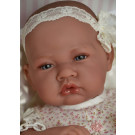 Antonio Juan Baby Girl Doll Nina in Beige, 42cm