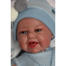 Antonio Juan Clar Mantita Mickey Blue Soft Baby Doll, 34cm