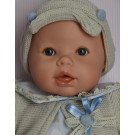 Berjuan Baby Lloron Soft Doll, 50cm blue hearts