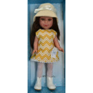 Vestida de Azul Paulina Doll, 33cm in Cream Hat