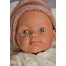 Paola Reina Mini Pikolin Baby Girl Doll, 32cm with brown blanket