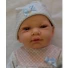 Marina & Pau Baby Boy Doll, 45cm in sleeping bag
