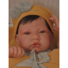 Antonio Juan Baby Doll Boy, 42cm on yellow blanket