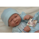 Berenguer Baby Boy Doll, 36cm in blue with blanket