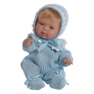 Berjuan Baby Smile Baby Boy Doll, 30cm in Pyjamas