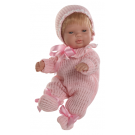 Berjuan Baby Smile Baby Girl Doll, 30cm in Pyjamas
