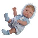 Berjuan Baby Smile Baby Boy Doll, 30cm in blue hat