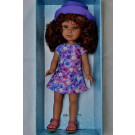 Vestida de Azul Paulina Doll, 33cm in Purple Hat