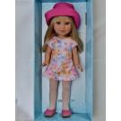 Vestida de Azul Paulina Doll, 33cm in Pink Hat