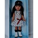 Vestida de Azul Paulina Doll, 33cm in Polka Dot Dress