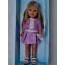 Vestida de Azul Paulina Doll, 33cm in pink sweater