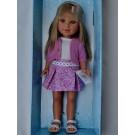 Vestida de Azul Paulina Doll, 33cm in pink sweater