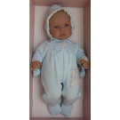 Asivil Baby Doll Soft Body Leo Pelele, 46cm blue overall