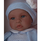 Asivil Baby Doll Soft Body Leo, 46cm in blue sweater