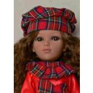 Vidal Rojas Mari Brown Doll, 41cm in red