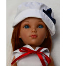 Vidal Rojas Mari Red Doll, 41cm in white