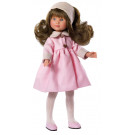 Asivil Celia Brunette Doll, 30cm in pink coat