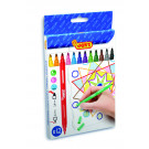JOVI® Double felt-tip pens case, 12 colours