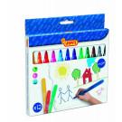 JOVI® Felt-tip pens Maxi case, 12 colours