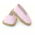 Petitcollin Espadrilles, 39/40/44/48 pink/white stripes